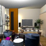 3D látványterv - nappali