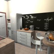 3D látványterv - konyha