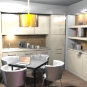 3D látványterv - iroda előtér