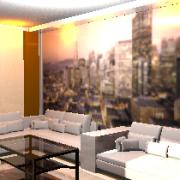 3D látványterv- nappali